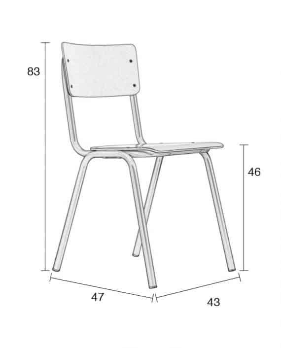 Back to School stoelen Zuiver afmetingen