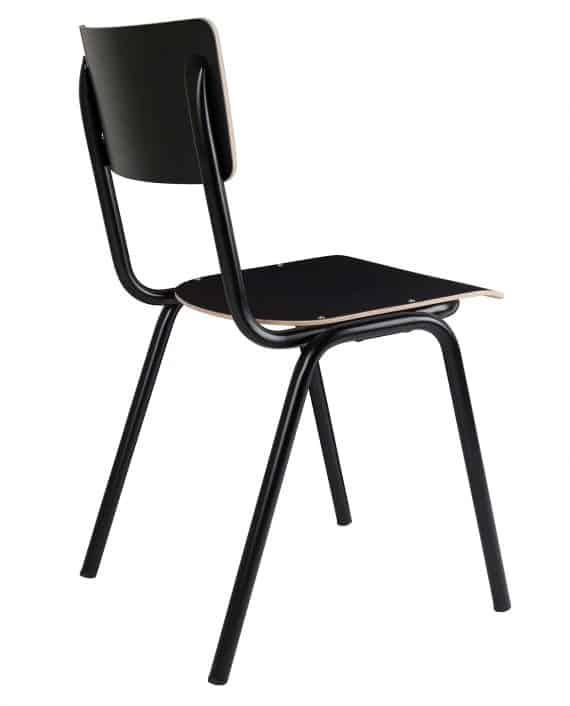 Back to School stoelen Zuiver zwart