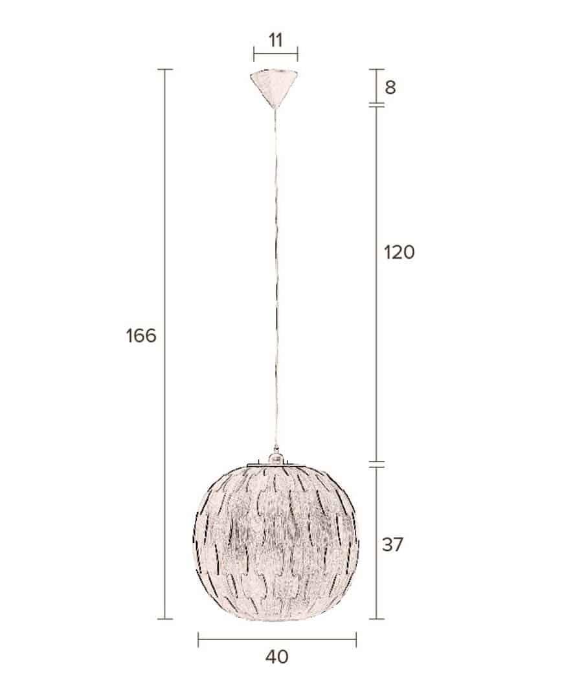 Bond hanglamp Dutchbone rond afmetingen