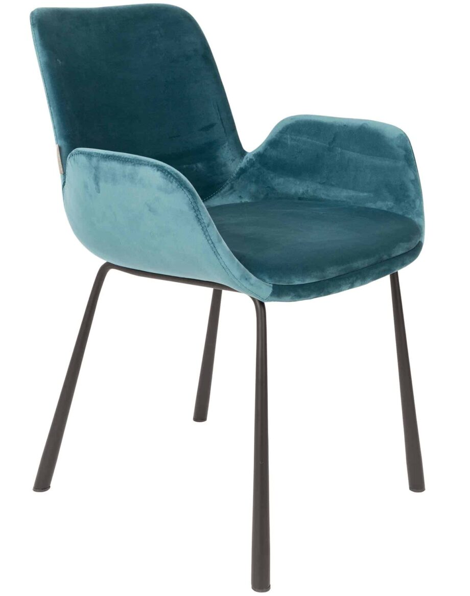 Brit fauteuil Zuiver blauw