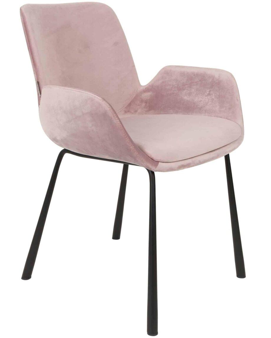 Brit fauteuil Zuiver roze