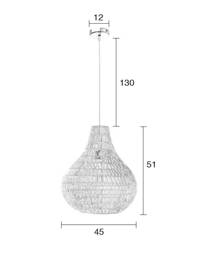 Cable Drop lamp Zuiver afmetingen