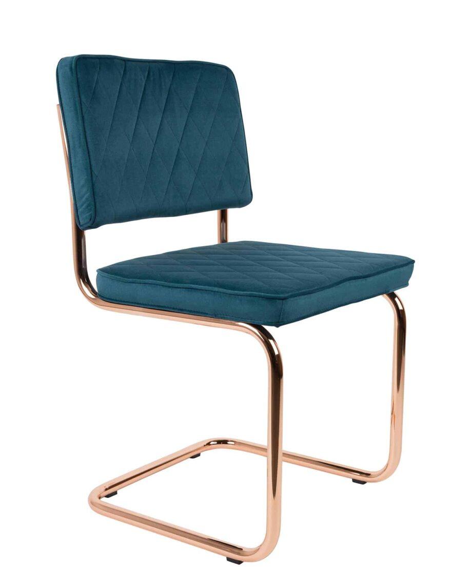 Diamond stoel Zuiver azuurblauw