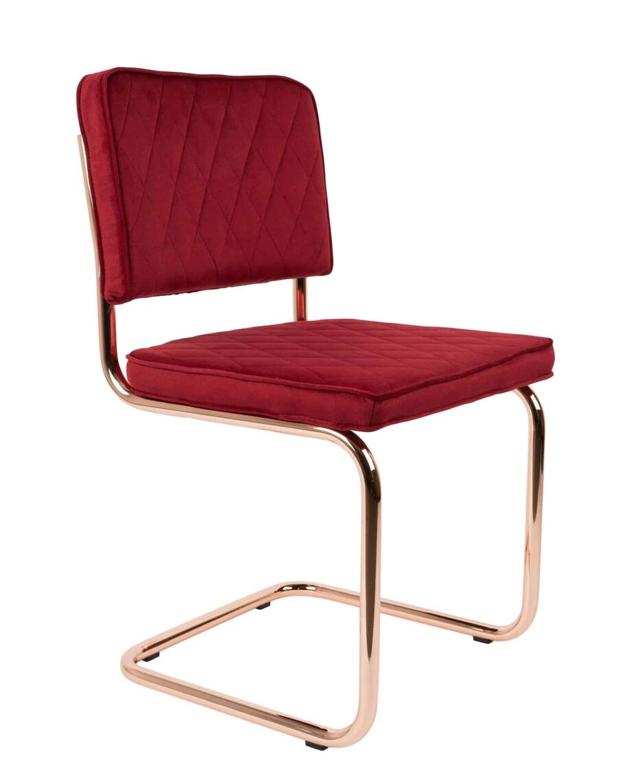 Diamond stoel Zuiver rood