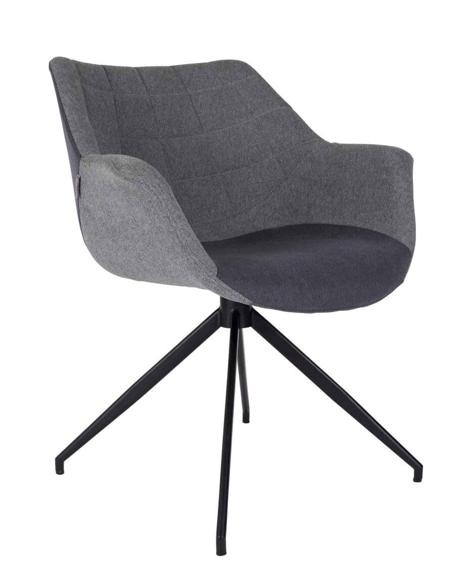 Doulton stoel Zuiver grijs