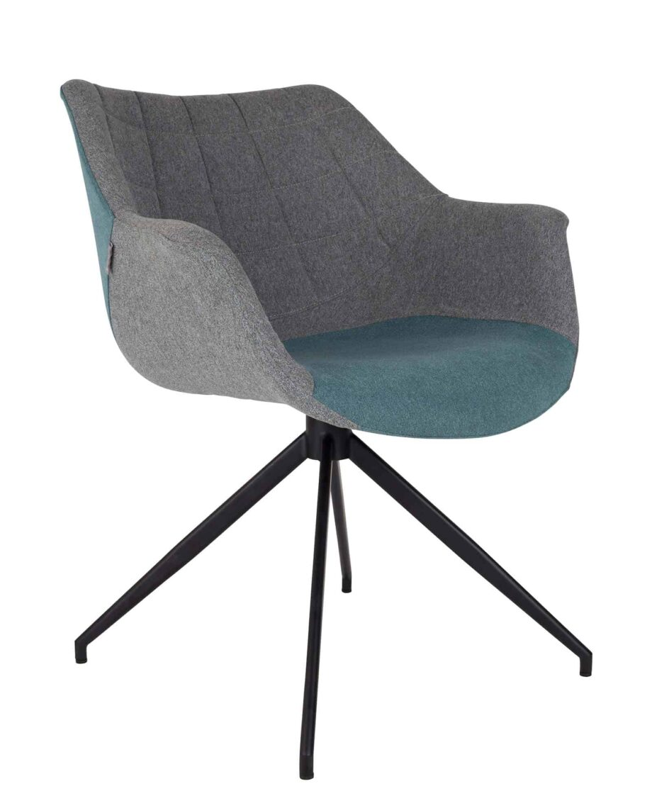 Doulton stoel Zuiver grijs blauw
