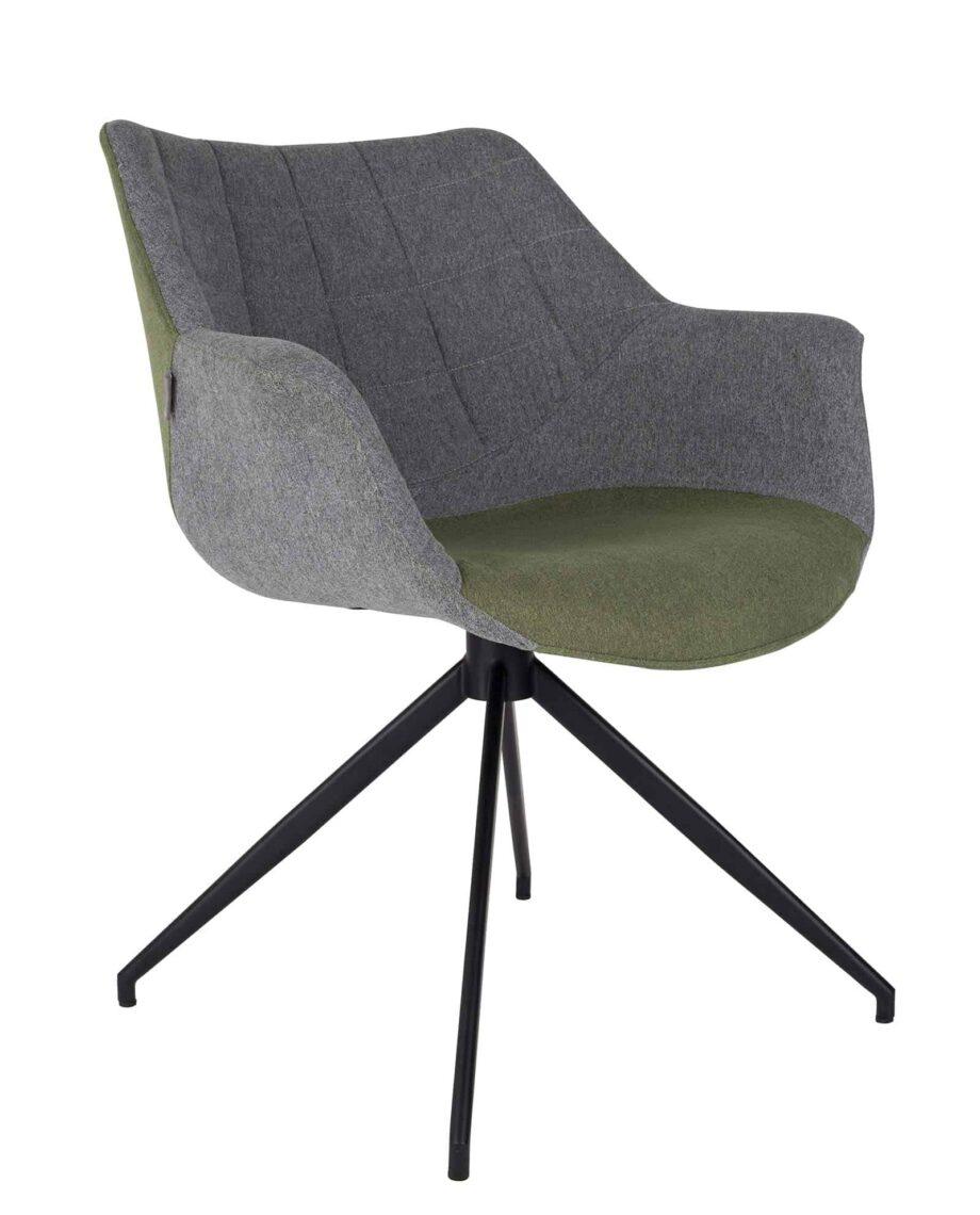 Doulton stoel Zuiver grijs groen