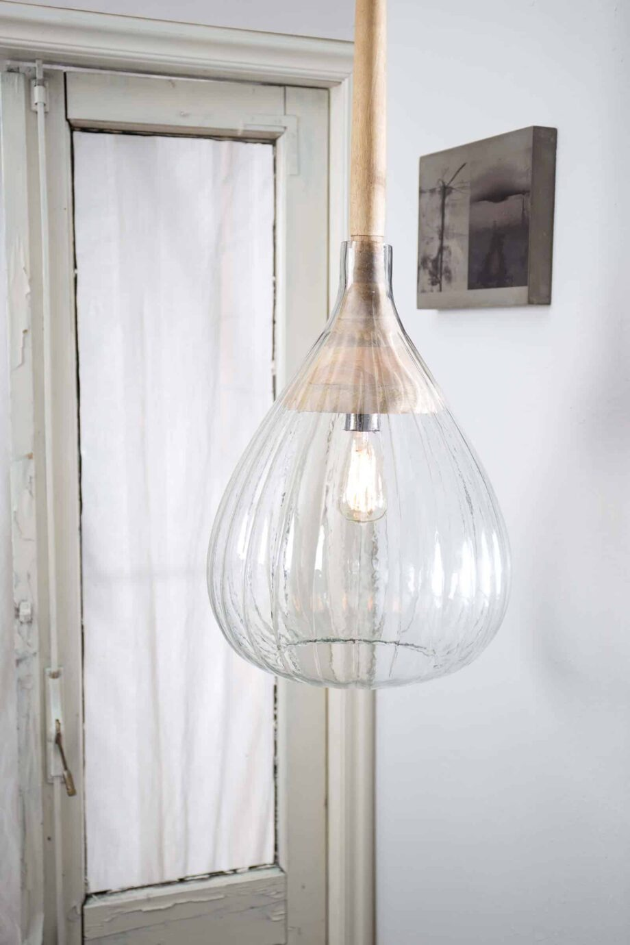 Drop hanglamp wit