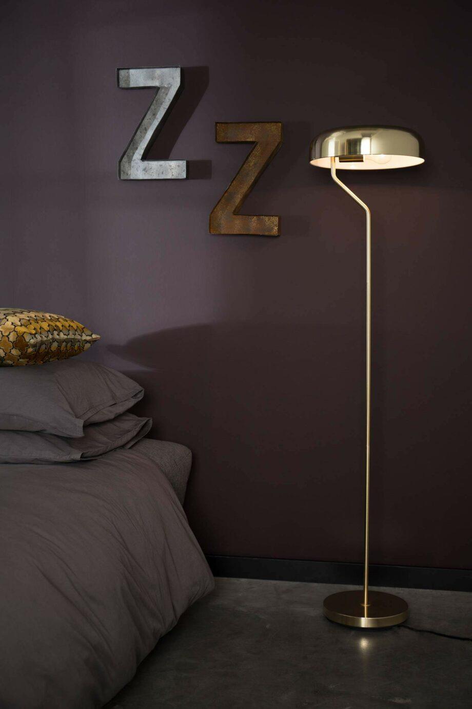 Eclipse vloerlamp Dutchbone goudkleur
