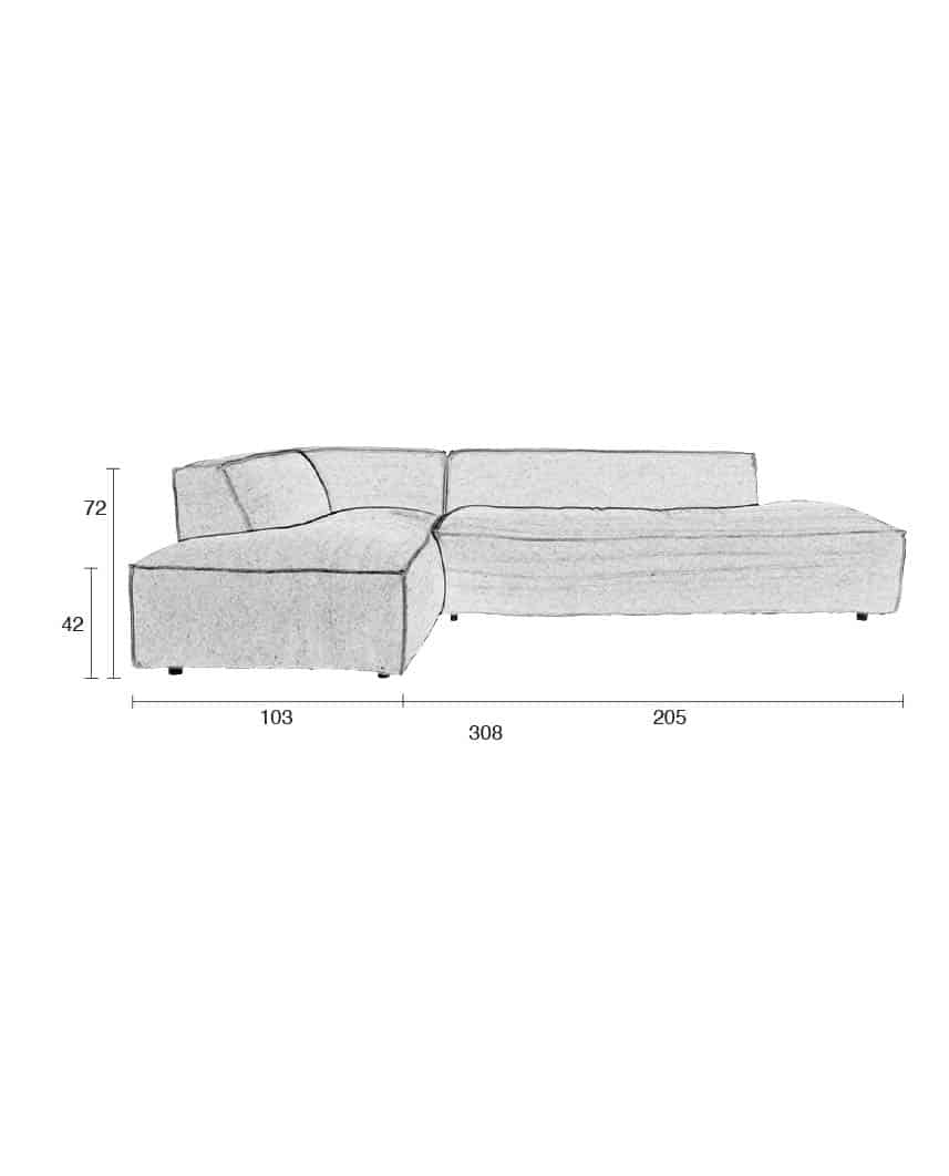 Fat Freddy sofa Zuiver afmetingen
