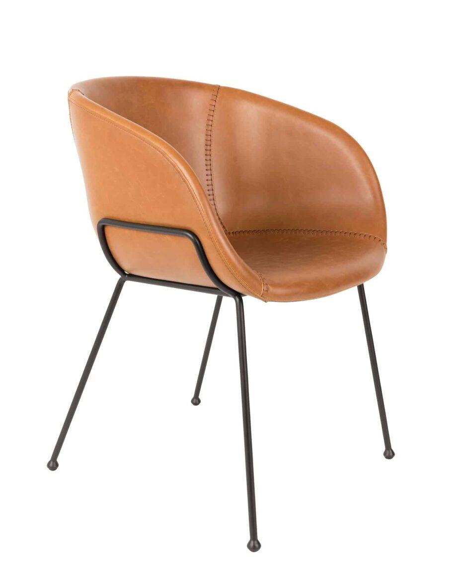 Feston fauteuil Zuiver bruin
