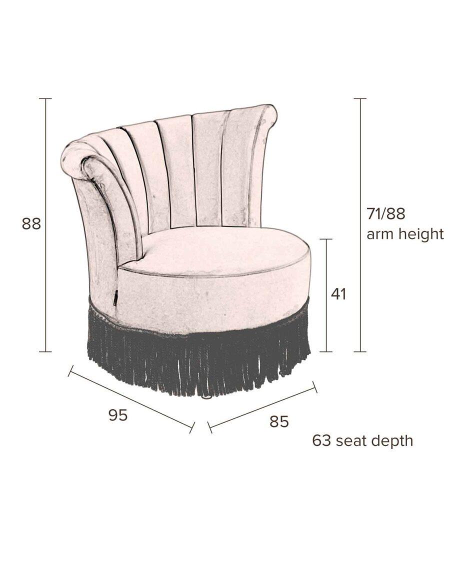 Flair loungestoel Dutchbone afmetingen