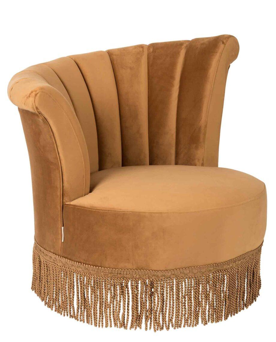 Flair loungestoel Dutchbone goudkleur