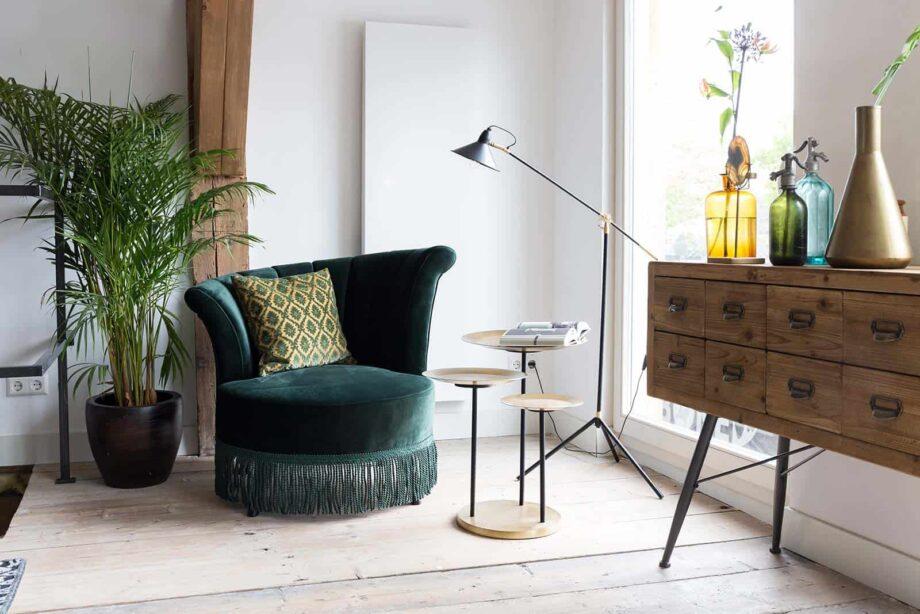 Flair loungestoel Dutchbone groen