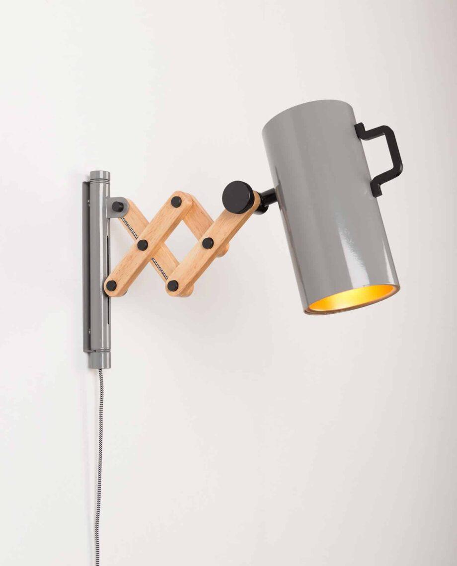 Flex wandlamp Zuiver grijs