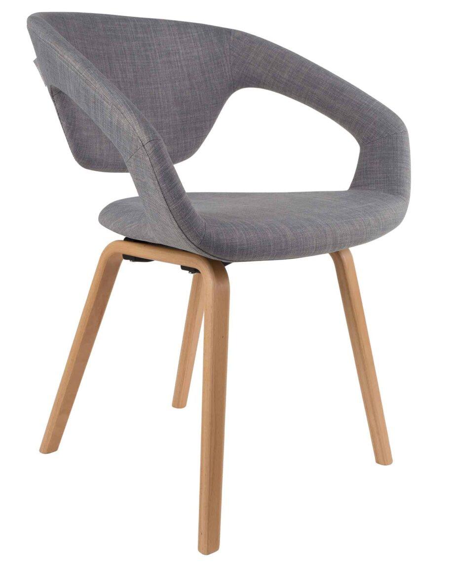 Flexback stoel Zuiver grijs hout