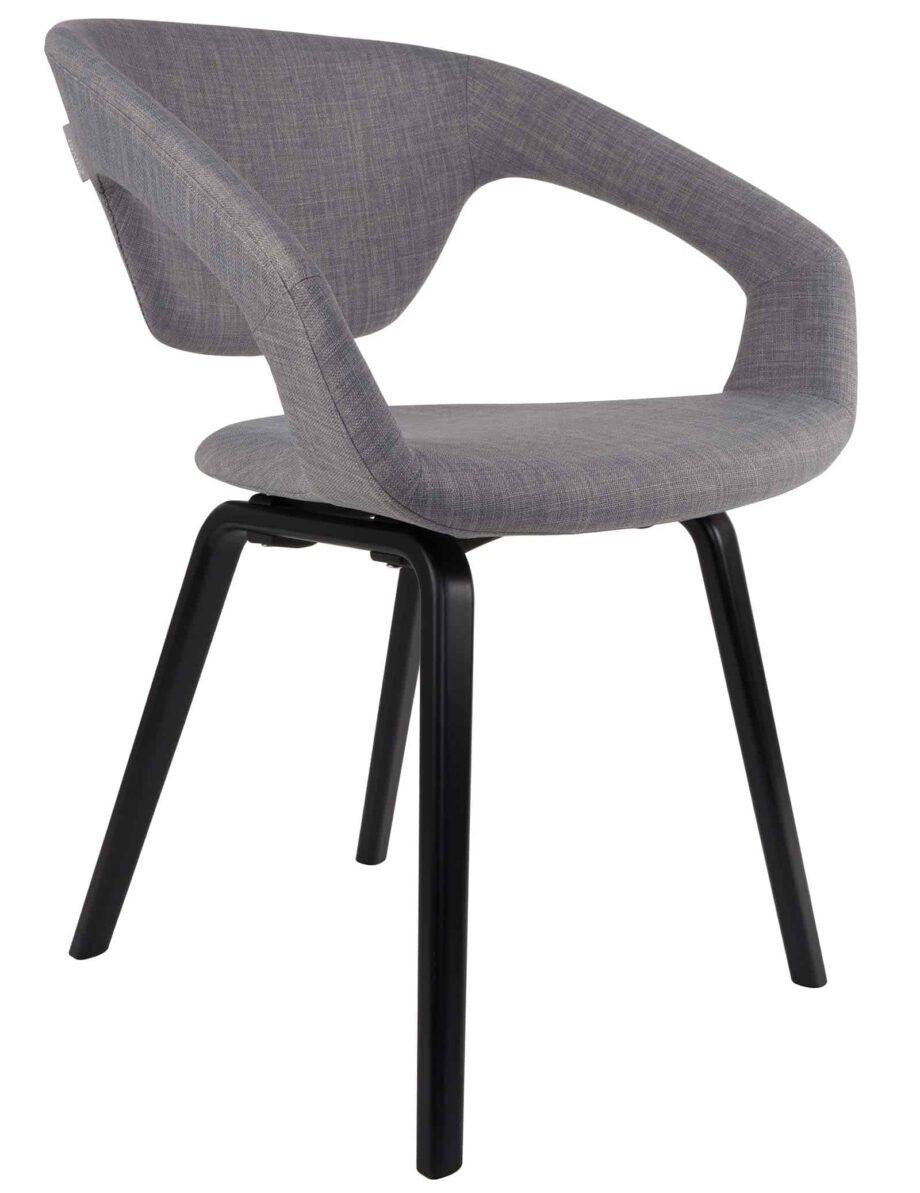 Flexback stoel Zuiver grijs zwart