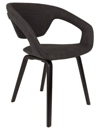 Flexback stoel Zuiver zwart