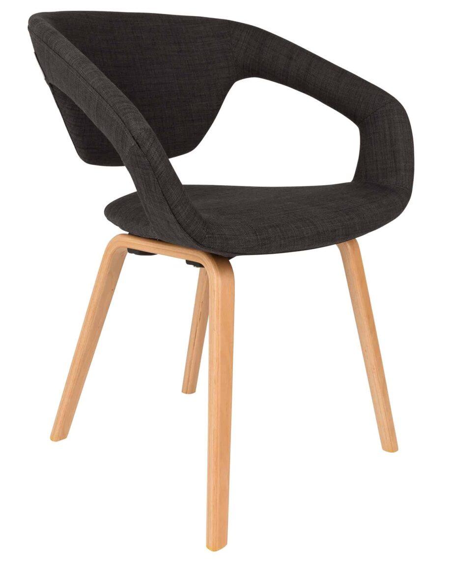 Flexback stoel Zuiver zwart hout
