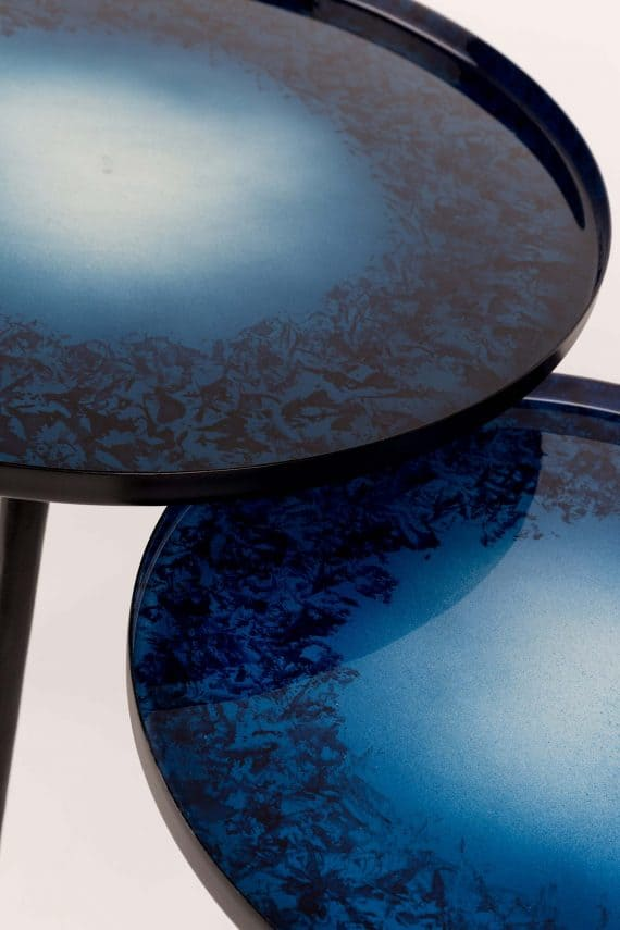 Flow bijzettafels Zuiver blauw