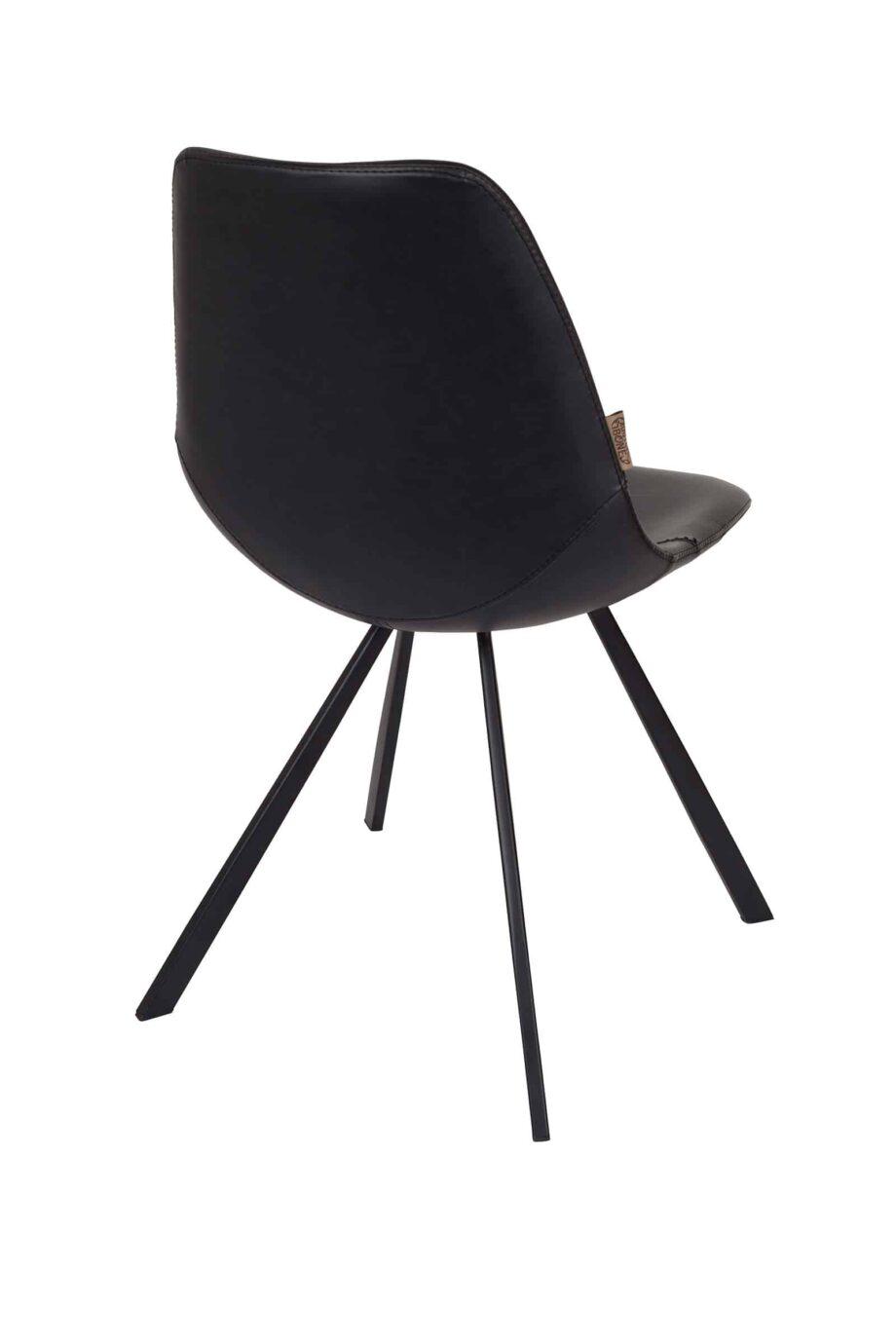 Franky stoel Dutchbone zwart leder