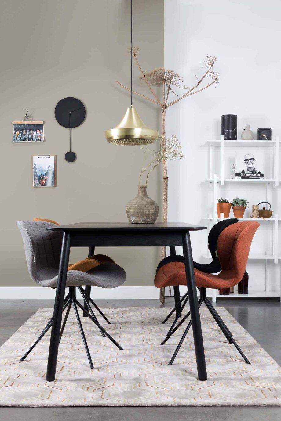 Glimps tafel Zuiver hout zwart