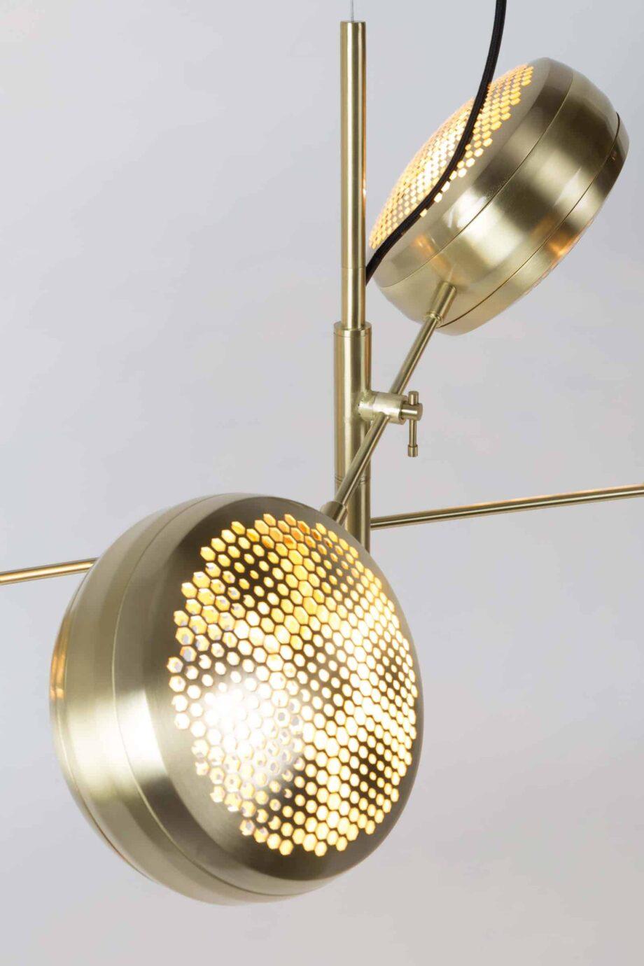 Gringo multi hanglamp Zuiver volledig goudkleur