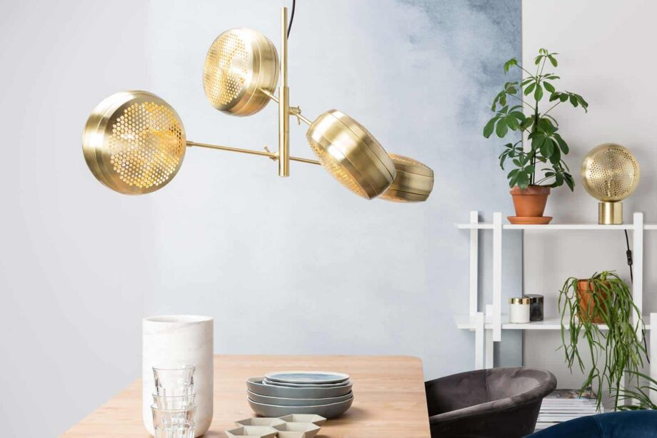 Gringo multi hanglamp Zuiver volledig goud