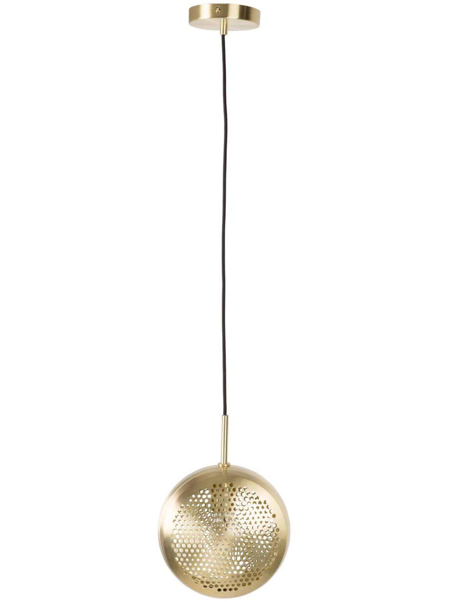 Gringo platte hanglamp Zuiver volledig goudkleur