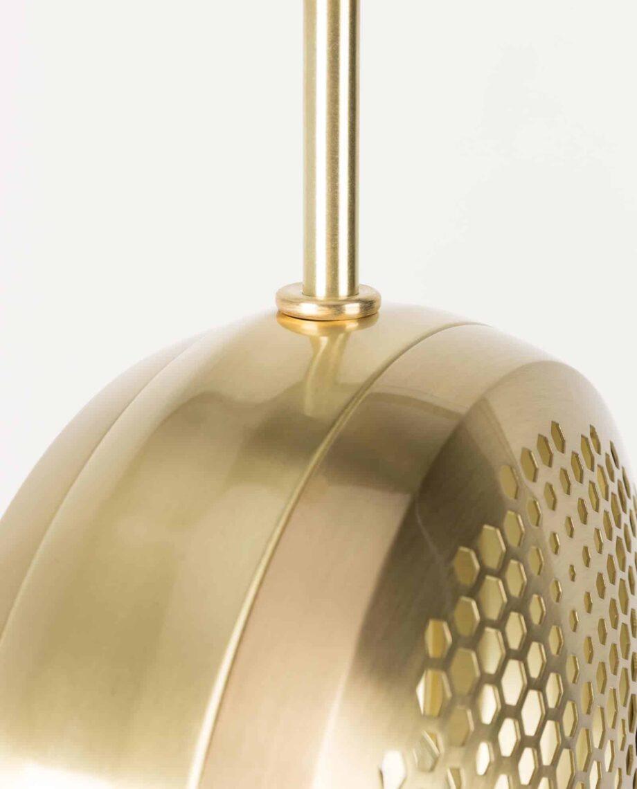 Gringo platte hanglamp Zuiver volledig goud