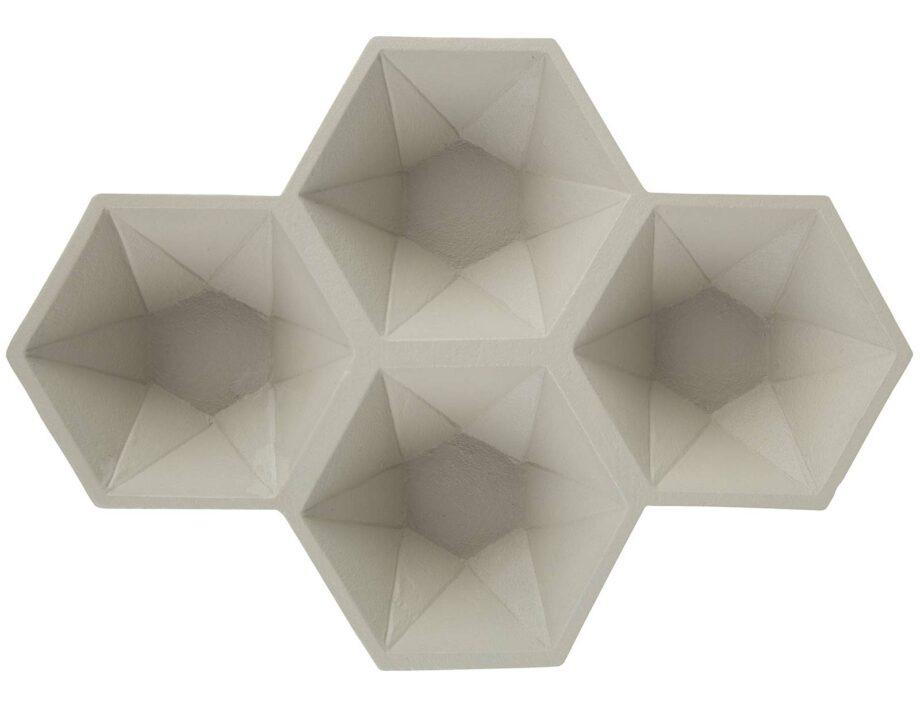 Hexagon schotels Zuiver wit