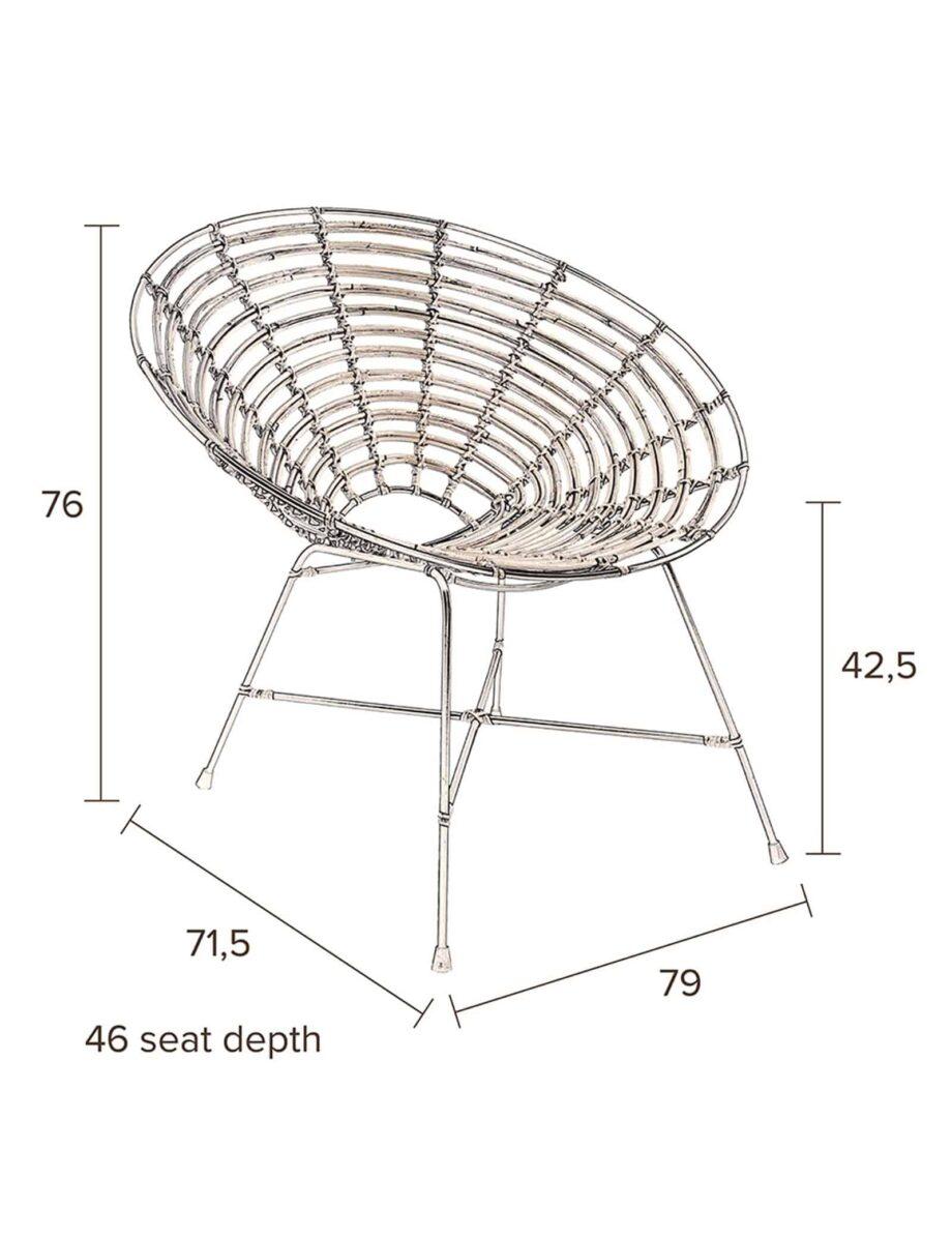 Kubu fauteuil Dutchbone afmetingen