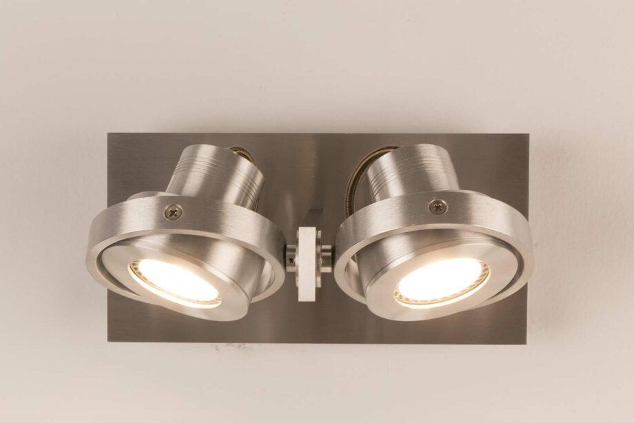 Luci LED 2 spotlampen Zuiver zilver