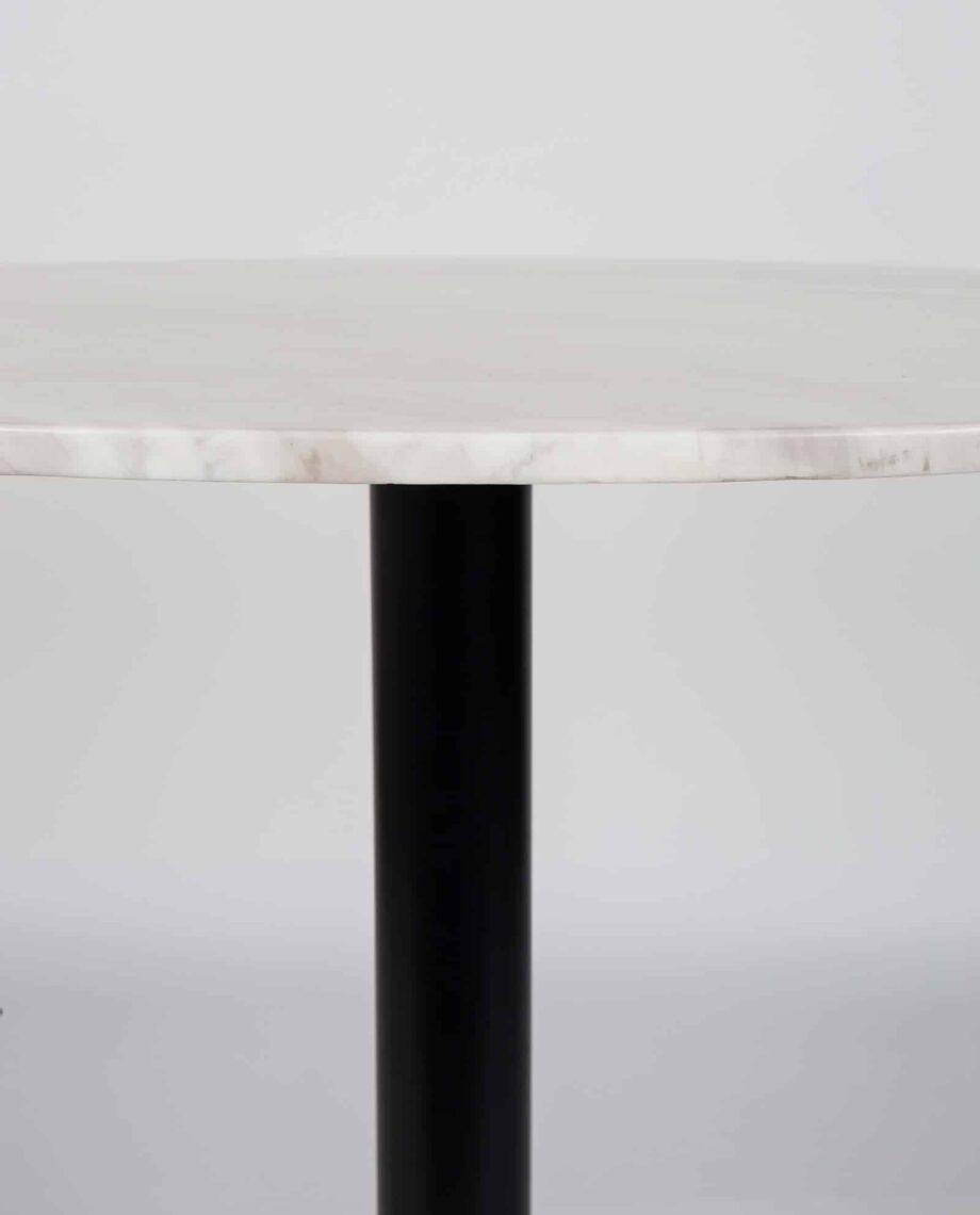 Marble King 90 tafel Zuiver wit marmer zwart