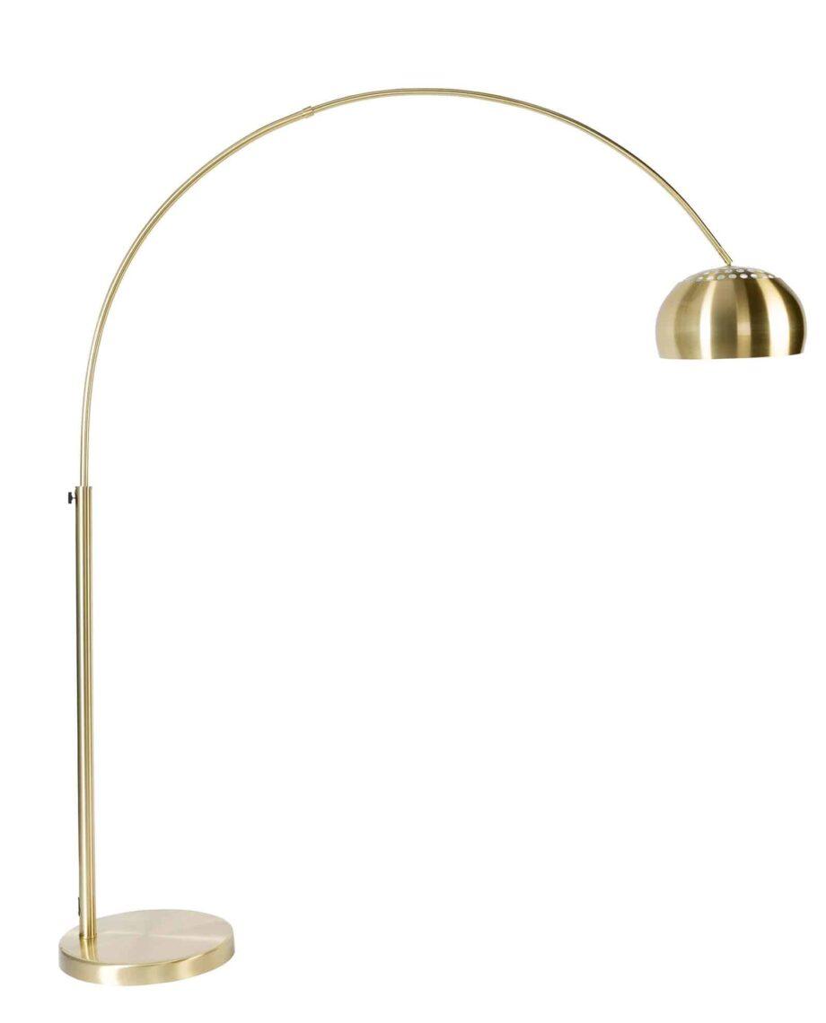 Metal Bow vloerlamp Zuiver goudkleur