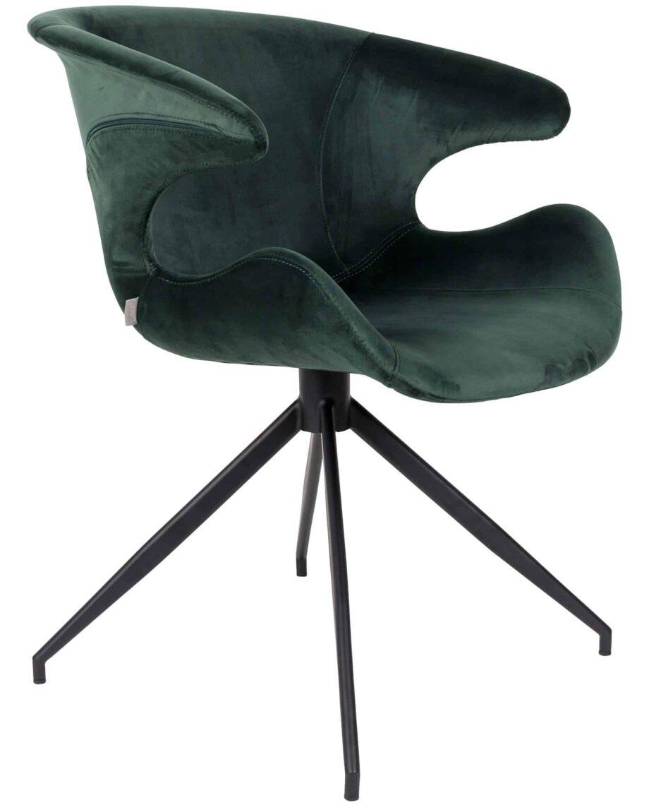 Mia fauteuil Zuiver groen