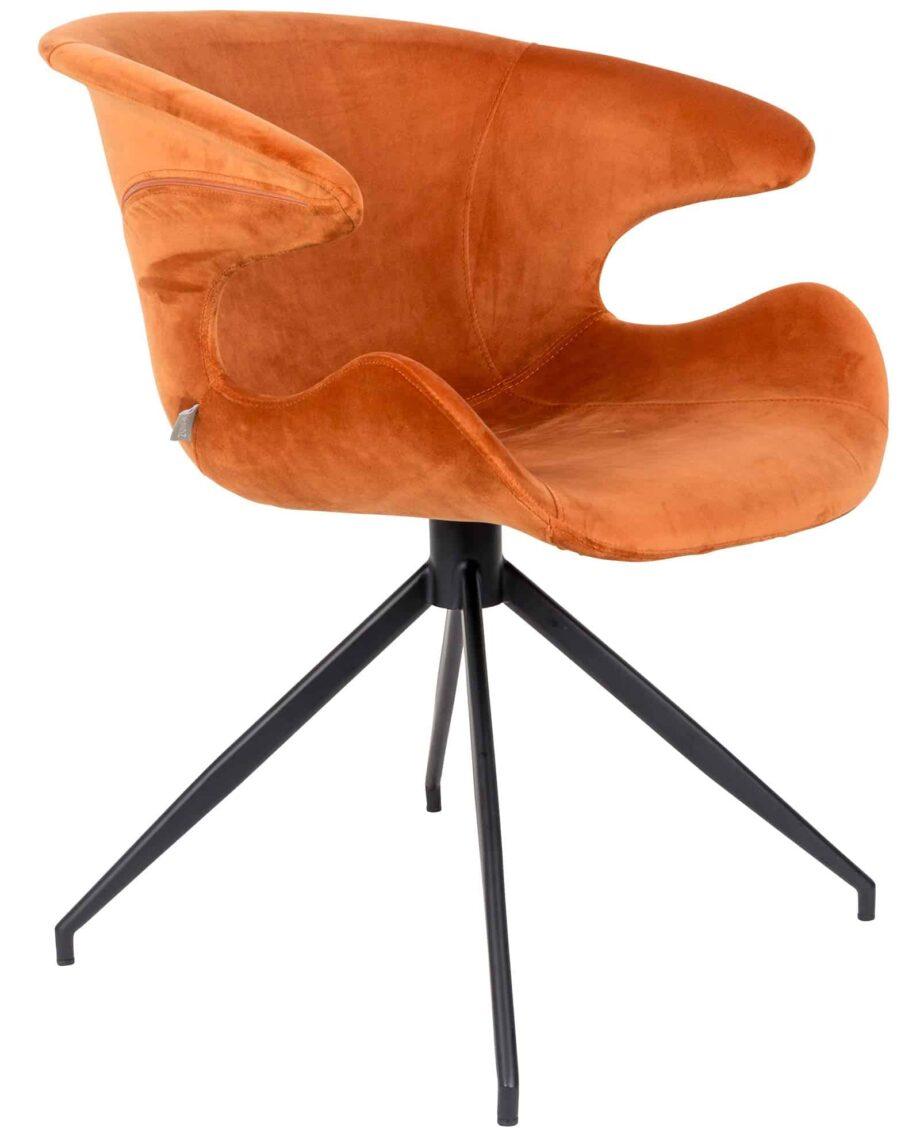 Mia fauteuil Zuiver oranje