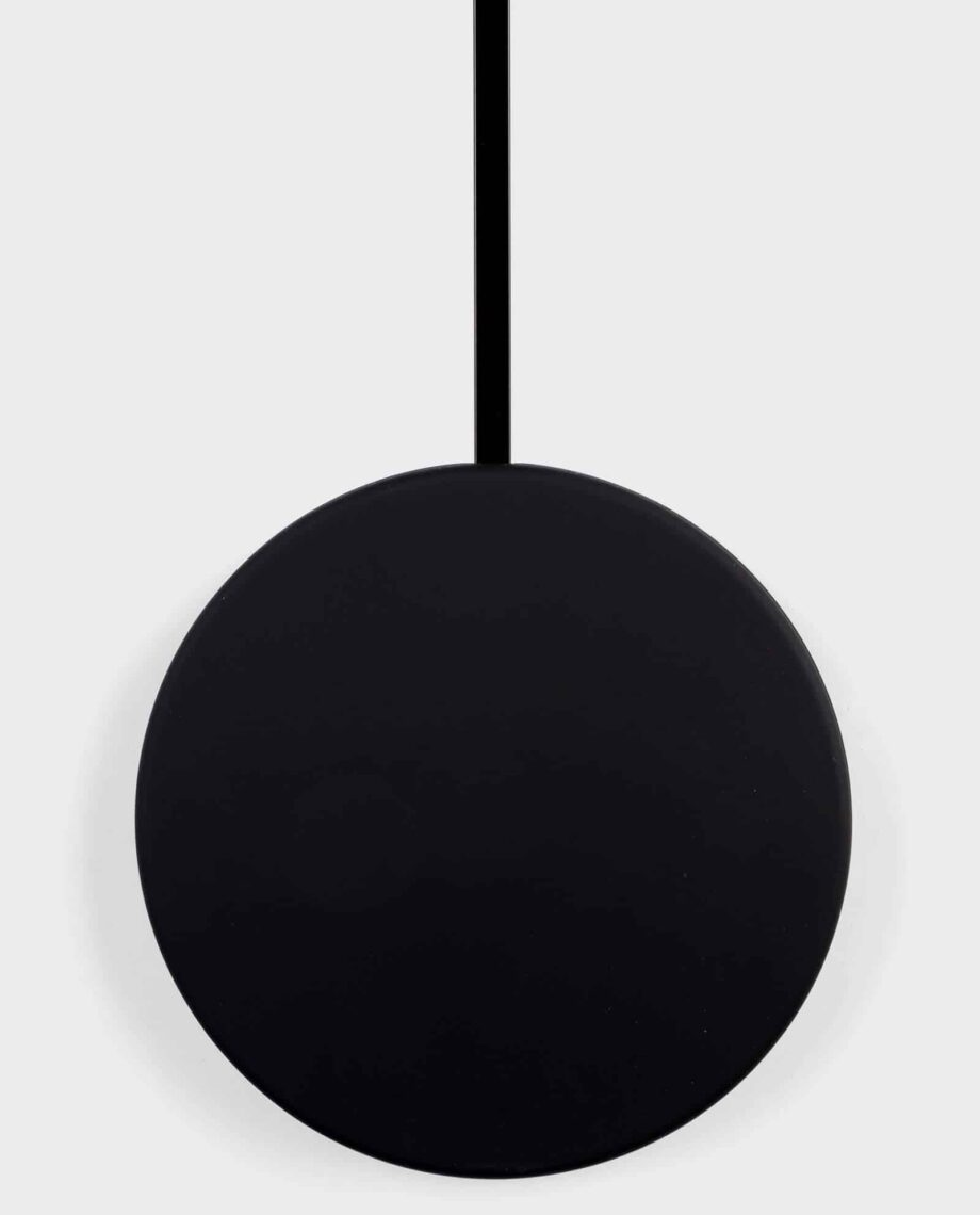 Minimal klok Zuiver zwart