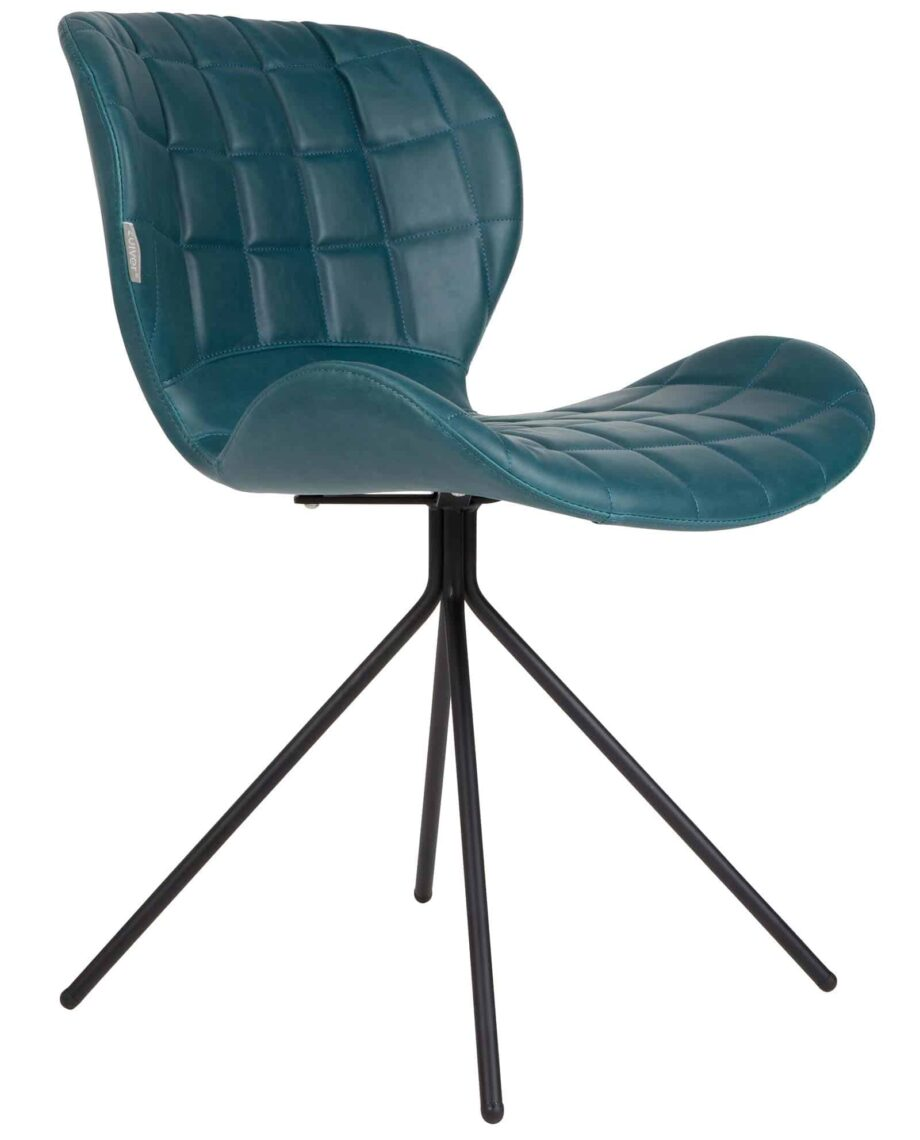 OMG LL stoel Zuiver turquoise leder