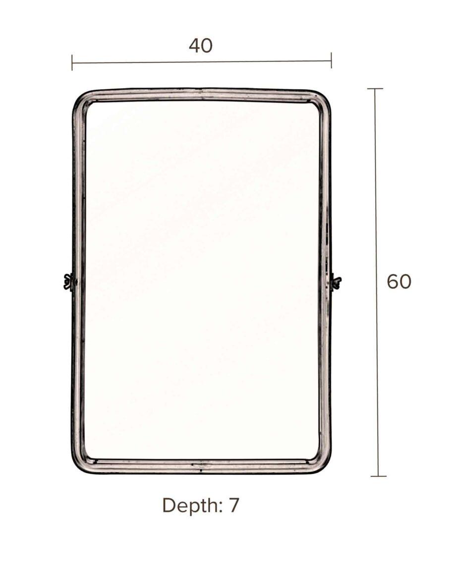 Poke spiegel Dutchbone rectangle afmetingen