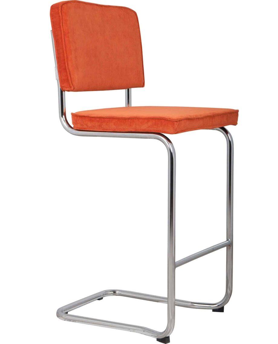 Ridge Kink Rib barkrukken Zuiver oranje