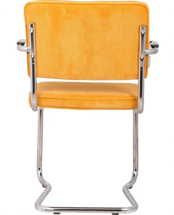 Ridge Kink Rib fauteuil Zuiver geel