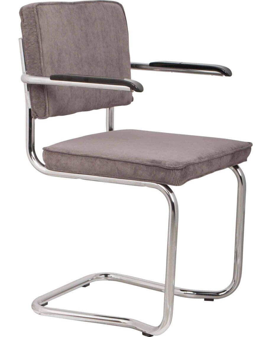 Ridge Kink Rib fauteuil Zuiver grijs