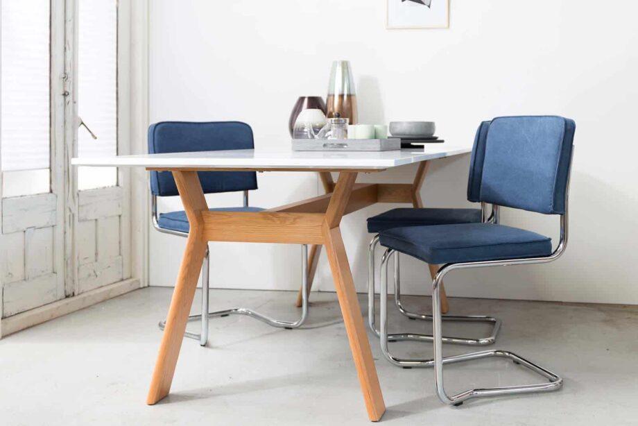 Ridge Kink Vintage Zuiver Armchair Blue