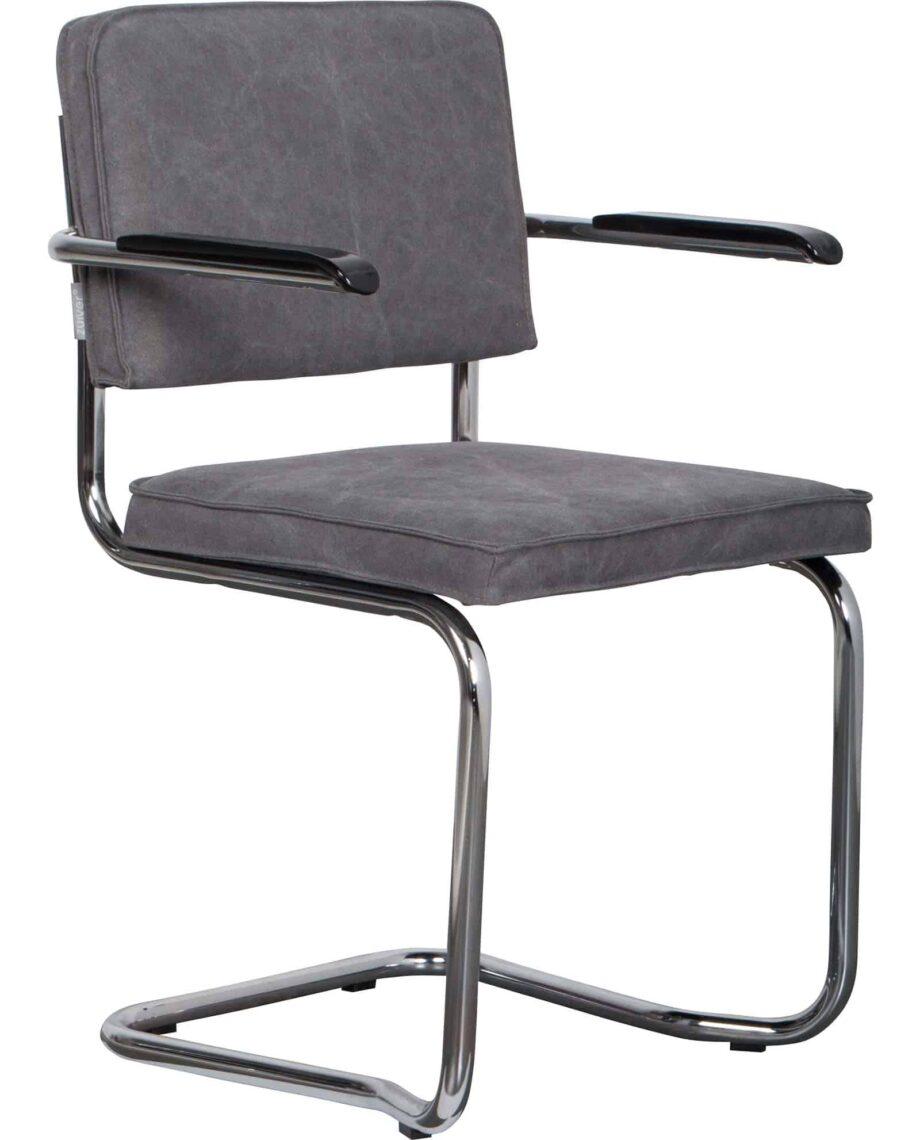 Ridge Kink Vintage fauteuil Zuiver grijs