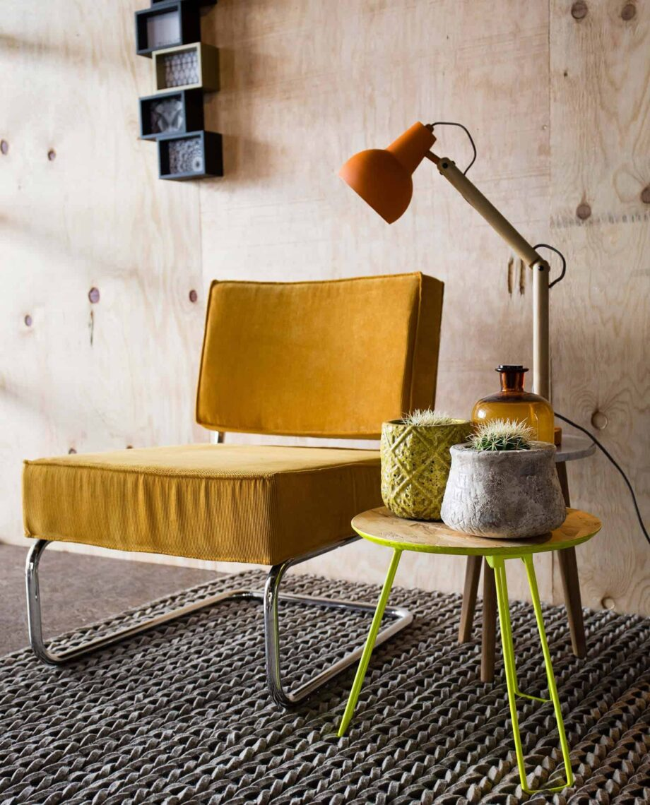 Ridge Lounge Rib fauteuil Zuiver geel