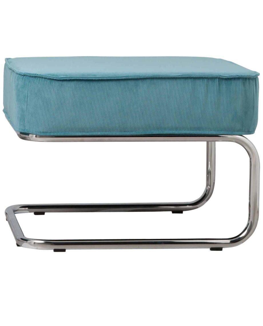 Ridge Lounge Rib pouf Zuiver blauw