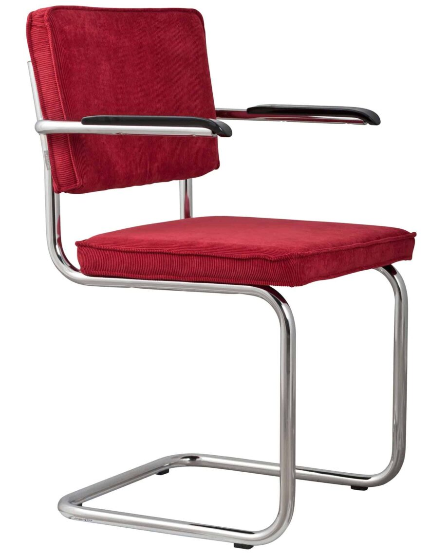 Ridge Rib fauteuil Zuiver fuchsia