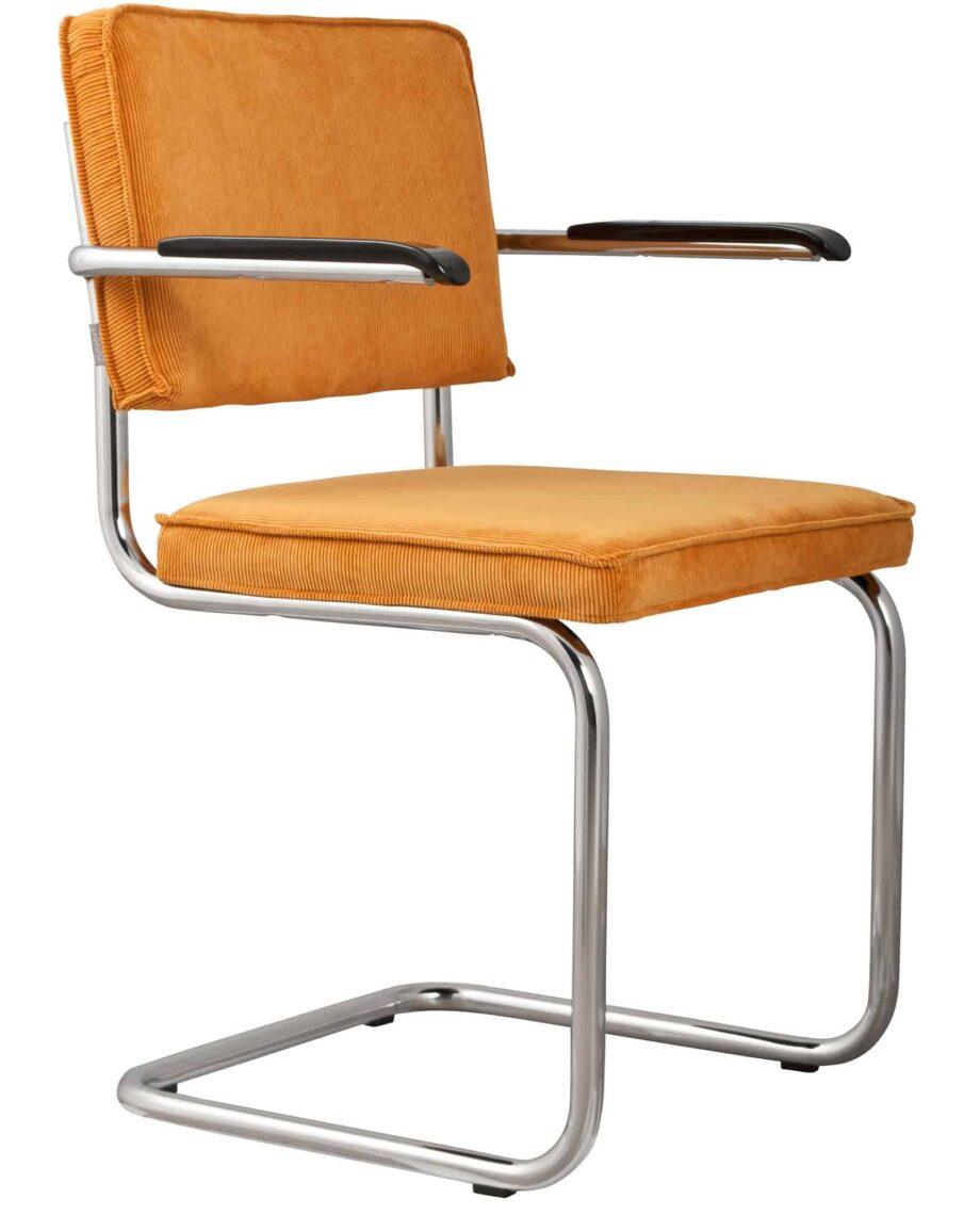 Ridge Rib fauteuil Zuiver geel