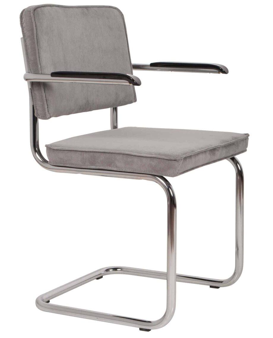 Ridge Rib fauteuil Zuiver lichtgrijs